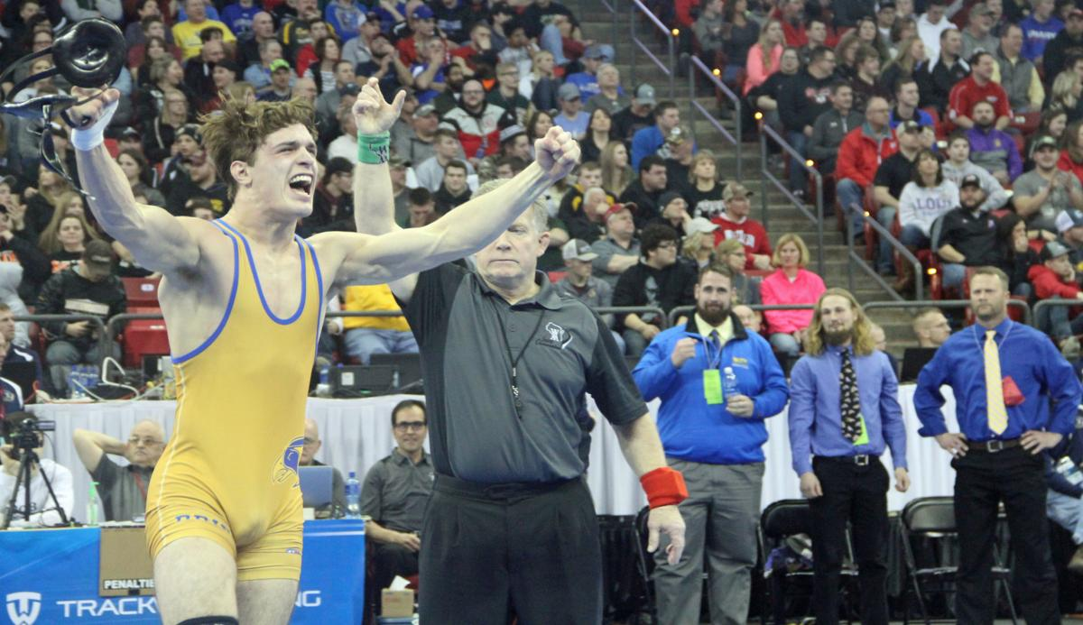 Teagen Miller reacts to winning state title
