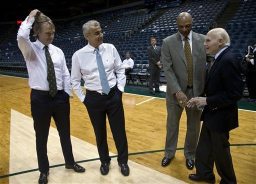Milwaukee Bucks new owners Marc Lasry, Wesley Edens and Herb Kohl AP file photo