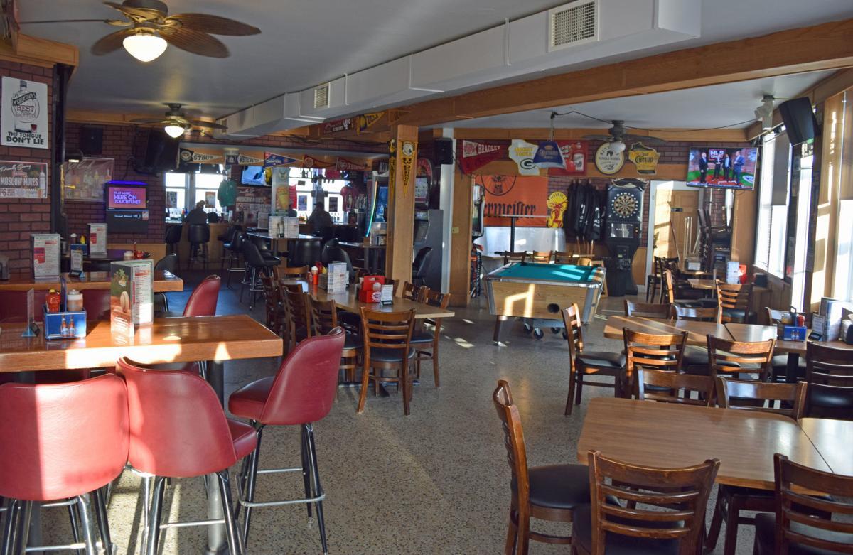 The stunningly barren inside of Malina's Sand Bar
