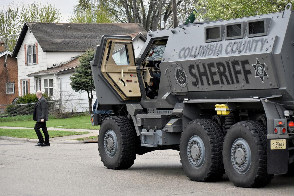 Sheriff's office vehicle during standoff (copy)
