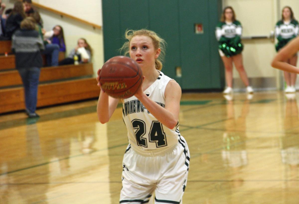 Shelby Justman shoots free throw (copy)