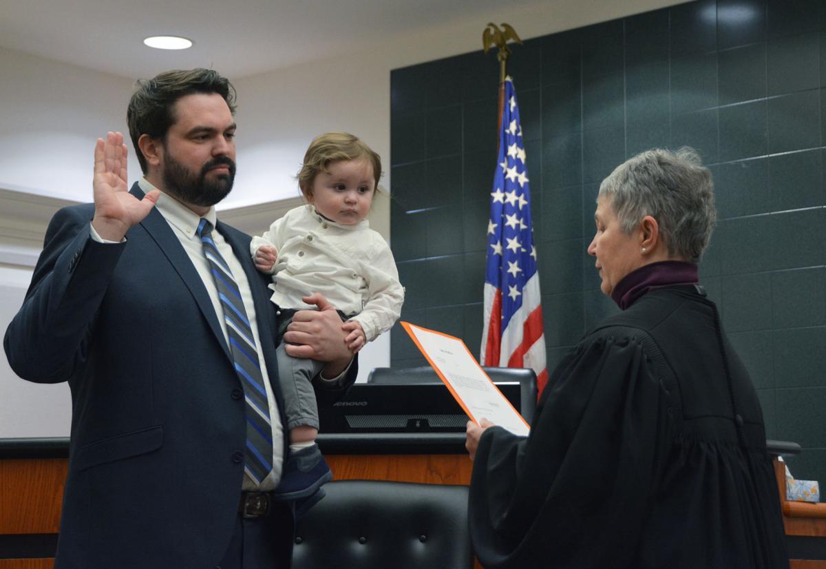 Mike Albrecht sworn in