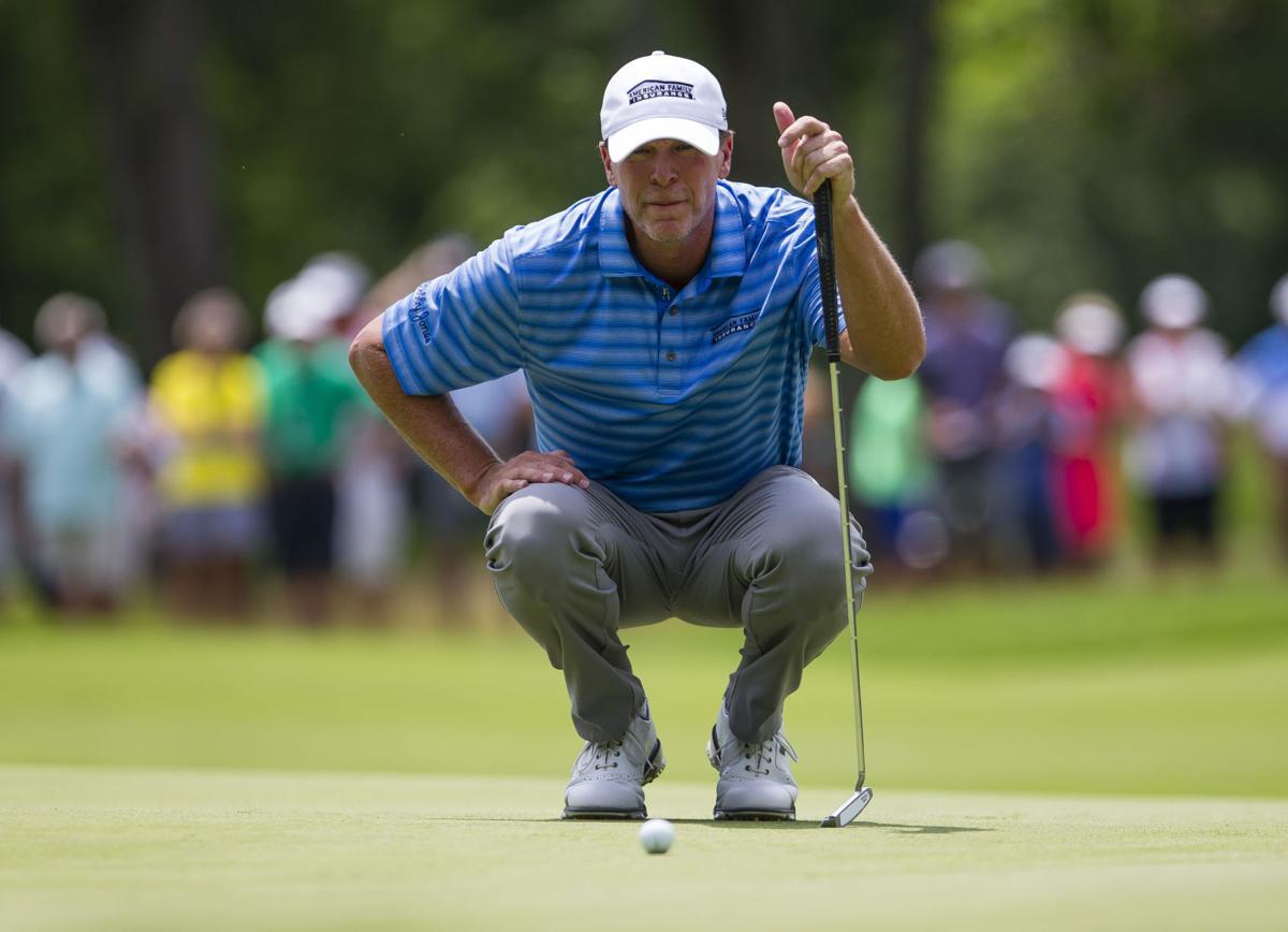 Steve Stricker sets 36-hole record at U S  Senior Open