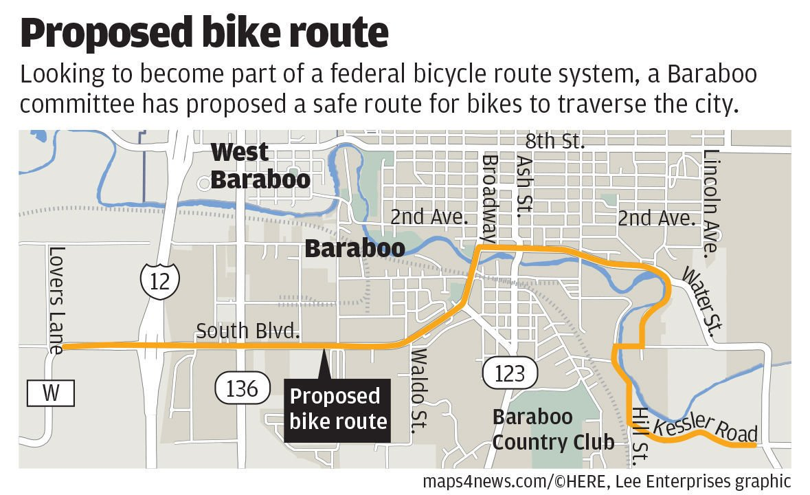 Proposed bike route