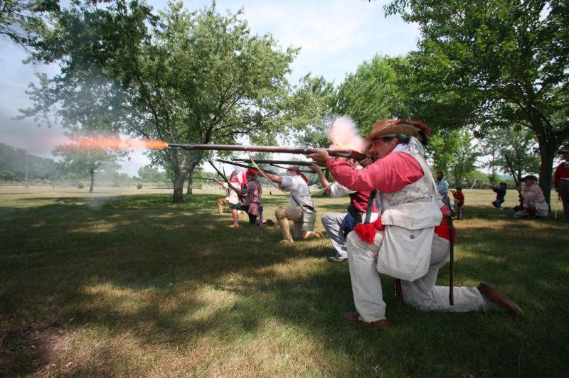 War of 1812 re-enactment at Villa Louis
