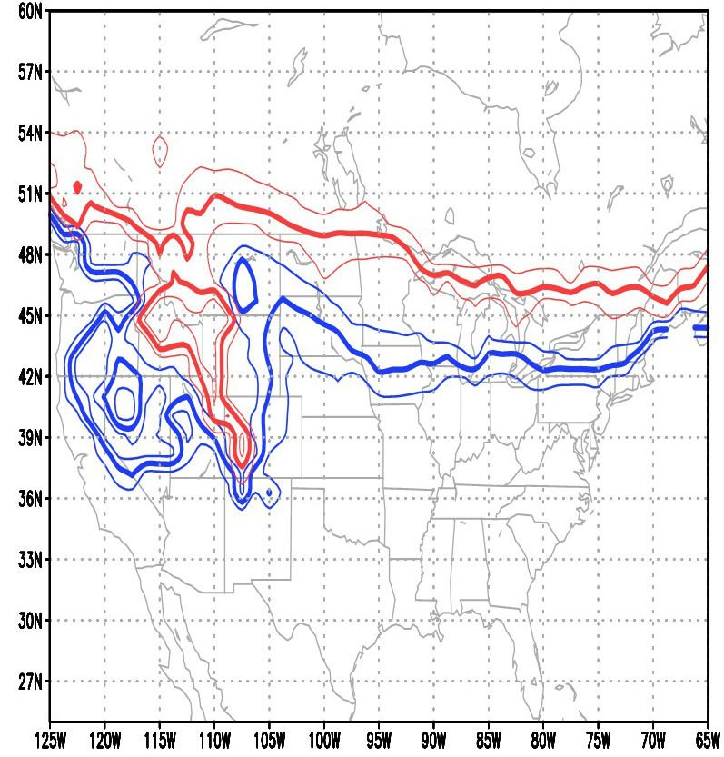 Change in March snow cover