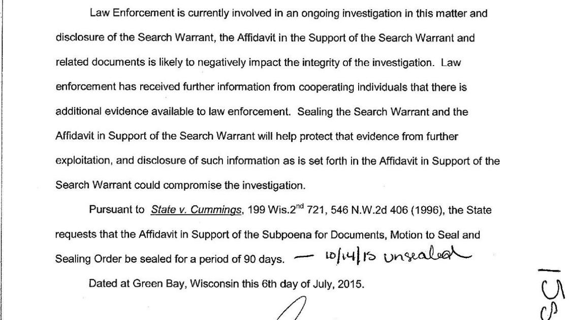 Ron Van Den Heuvel search warrant | State-and-regional | wiscnews com