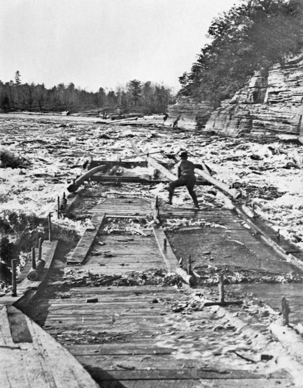 Wisconsin Forests Build Country As Lumber Floats Down Rivers