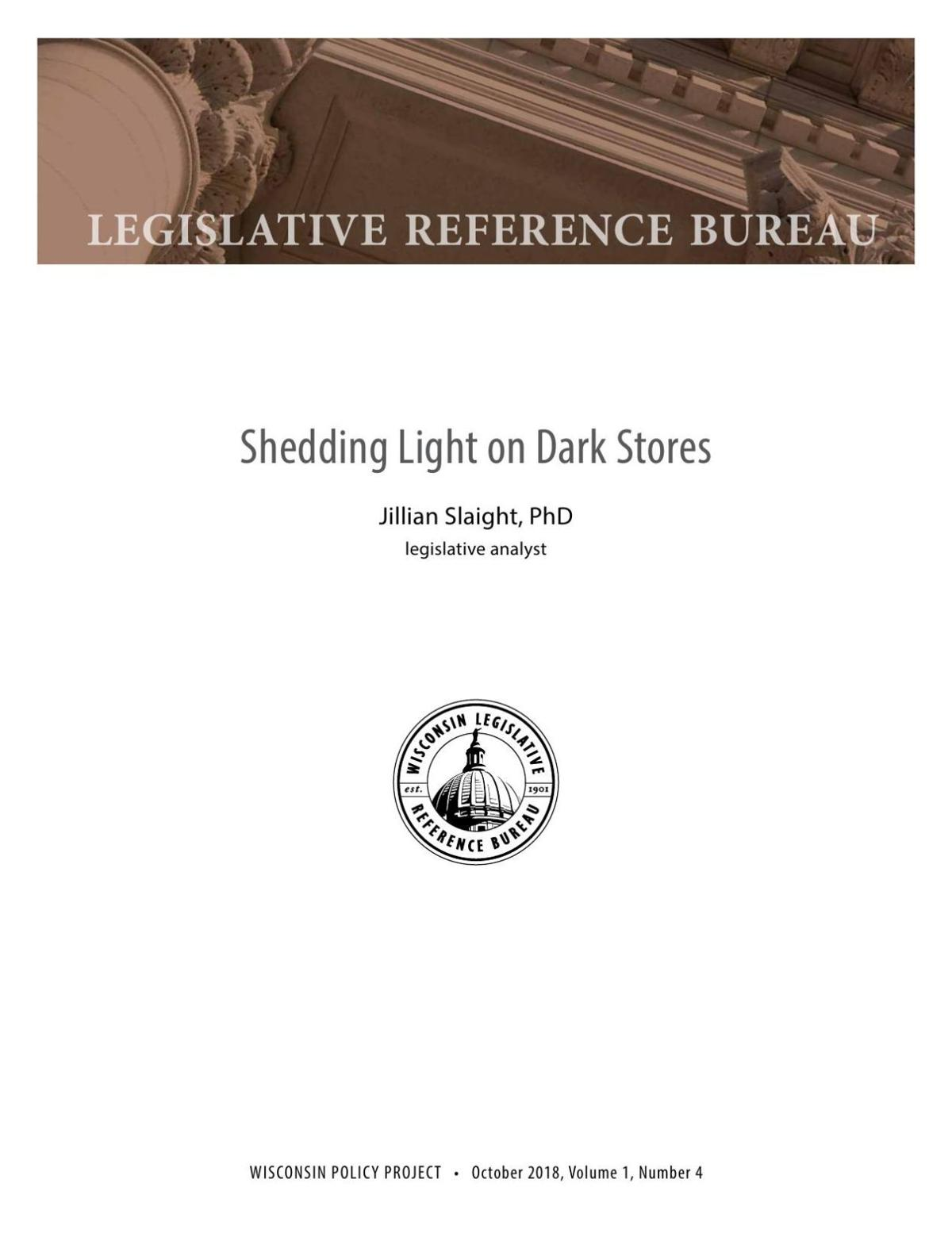 LRB report on 'dark stores' taxation