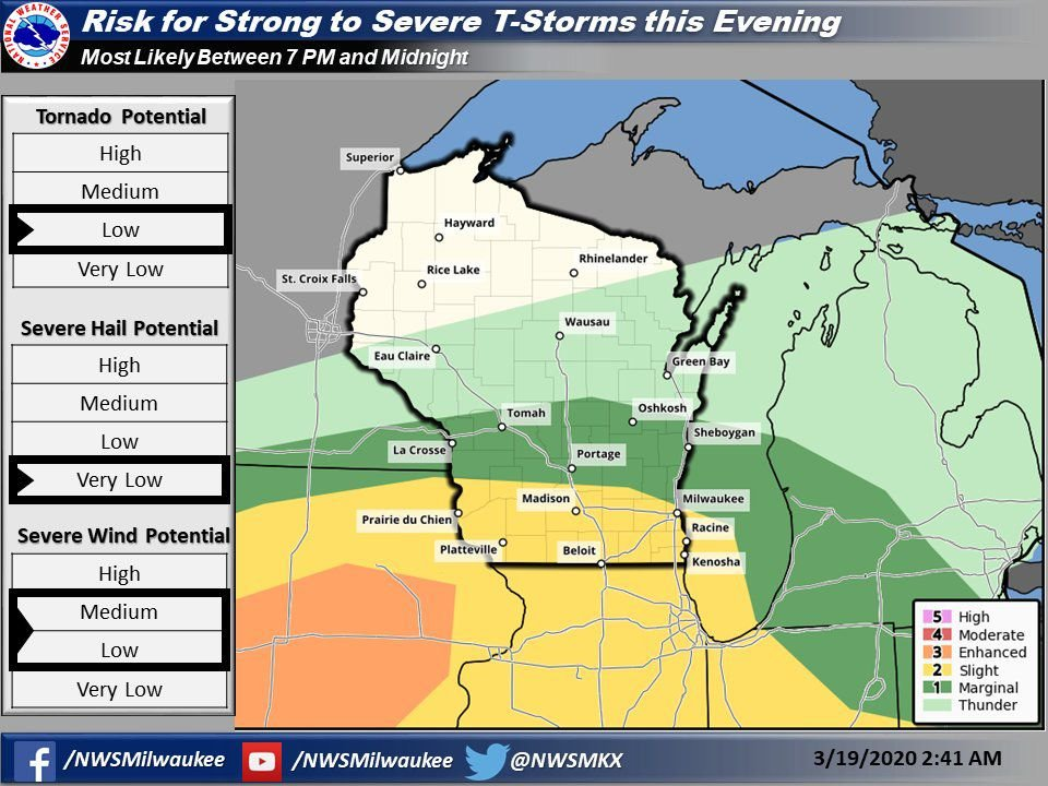Risk for strong to severe storms Thursday by National Weather Service