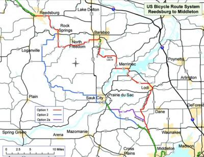 National Bike Route Could Come Through Baraboo Regional News - Us-bicycle-route-system-map