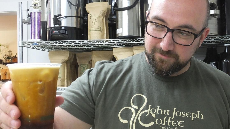 John Joseph Coffee offering nitro cold brew in Sauk Prairie