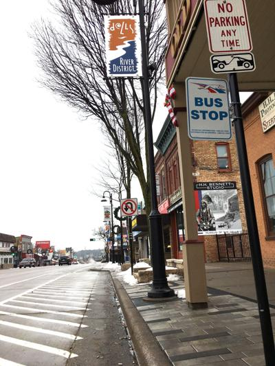 Dells' Greyhound bus stop moves downtown temporarily