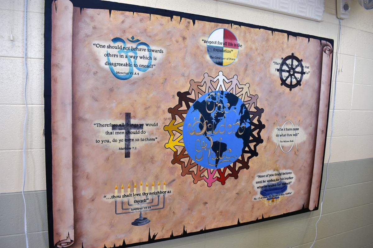 Peace board in CCI chapel