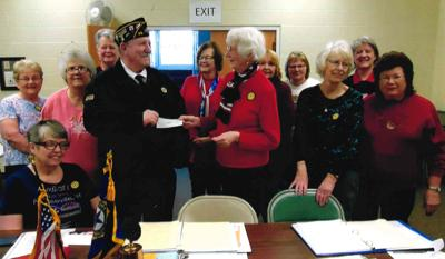 Pardeeville Legion Auxiliary donates $2,000 to building project