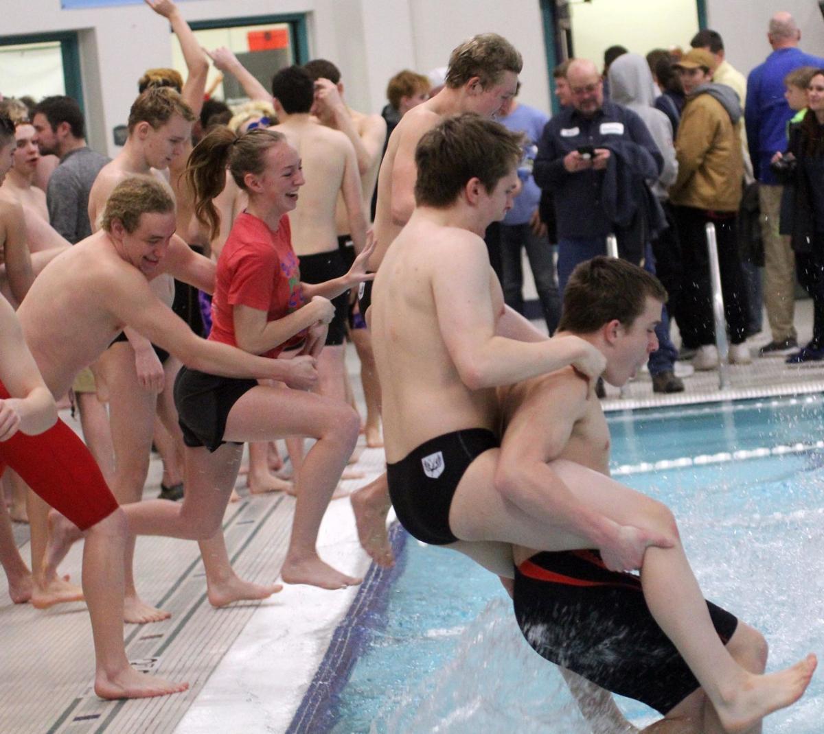 Sauk Prairie/Wisconsin Heights boys swim team
