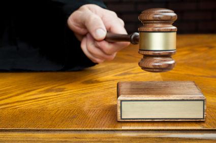 Judge with gavel, generic file photo