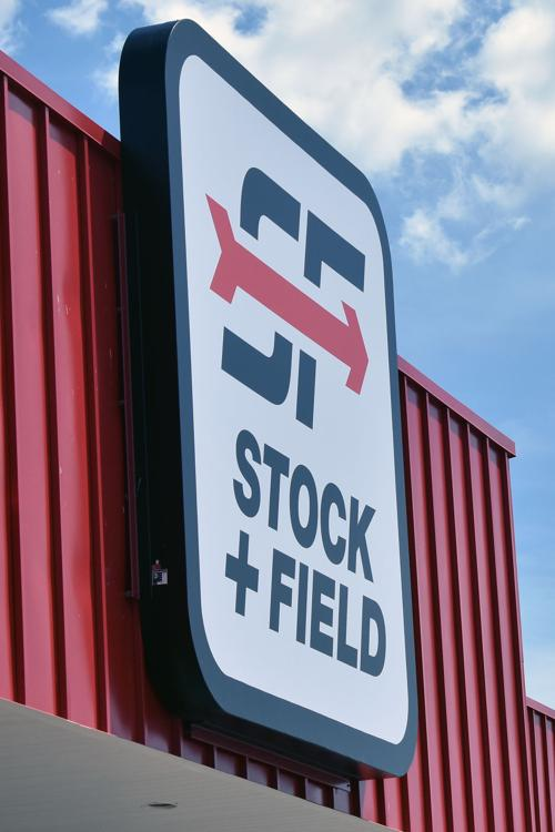 Stock & Field sign in Portage
