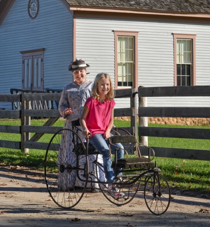 Antique bikes at Old World Wisconsin