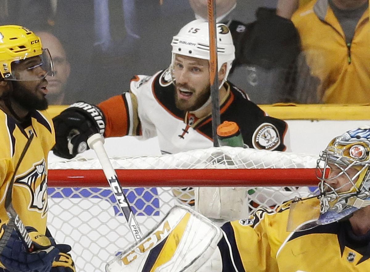 Ducks Predators Hockey