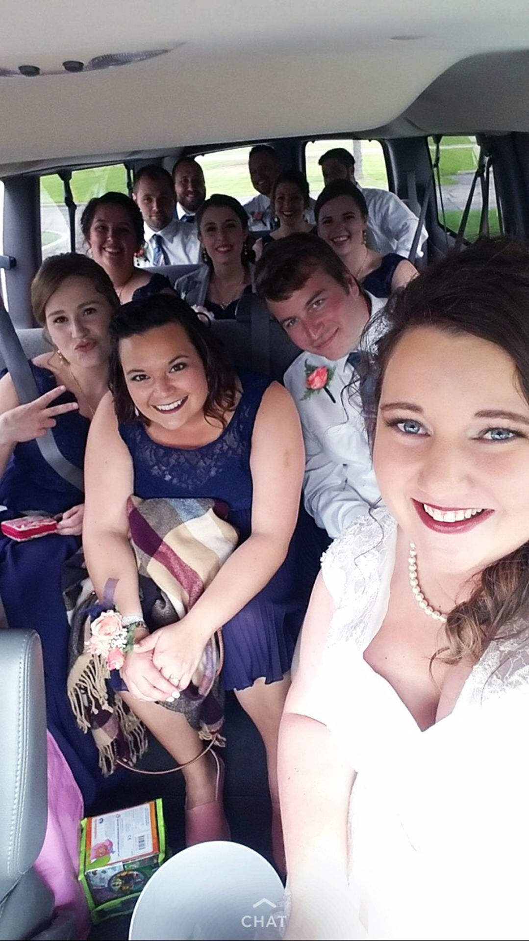 Zeman wedding party selfie