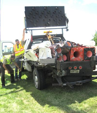 Semi hits maintenance truck | Regional news | wiscnews com