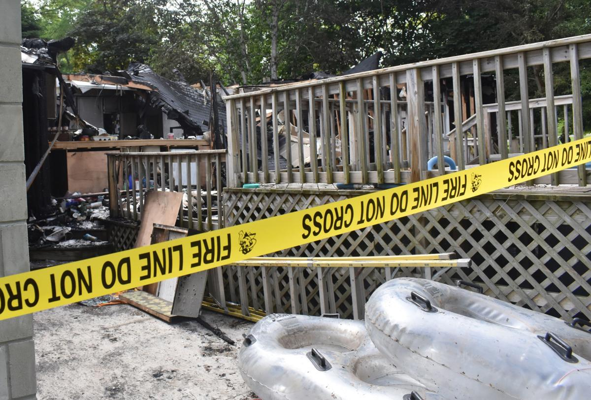 Ruins of pool after rural Portage house fire