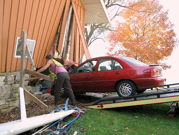 Car in house lakeshore drive