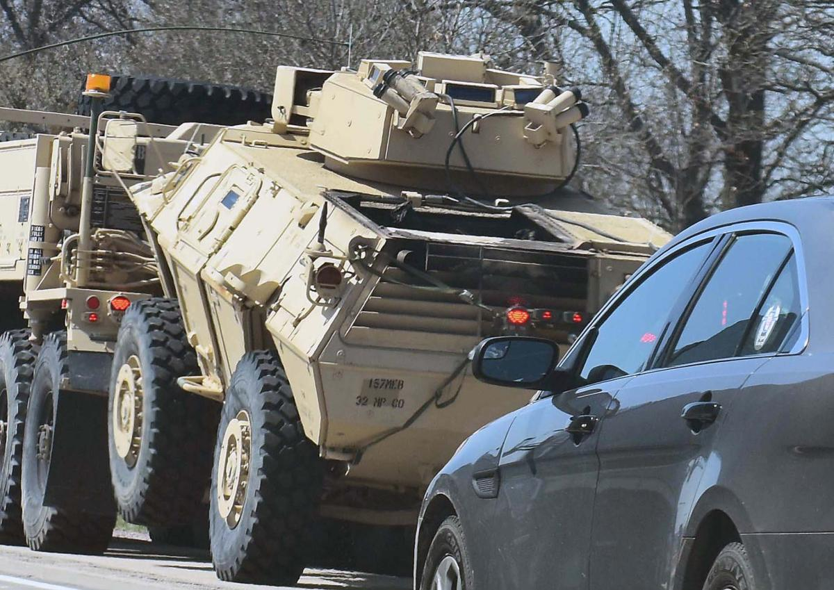 army convoy fire pic