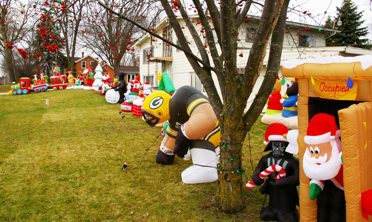 holiday blow up inflatable decorations a christmastime hit