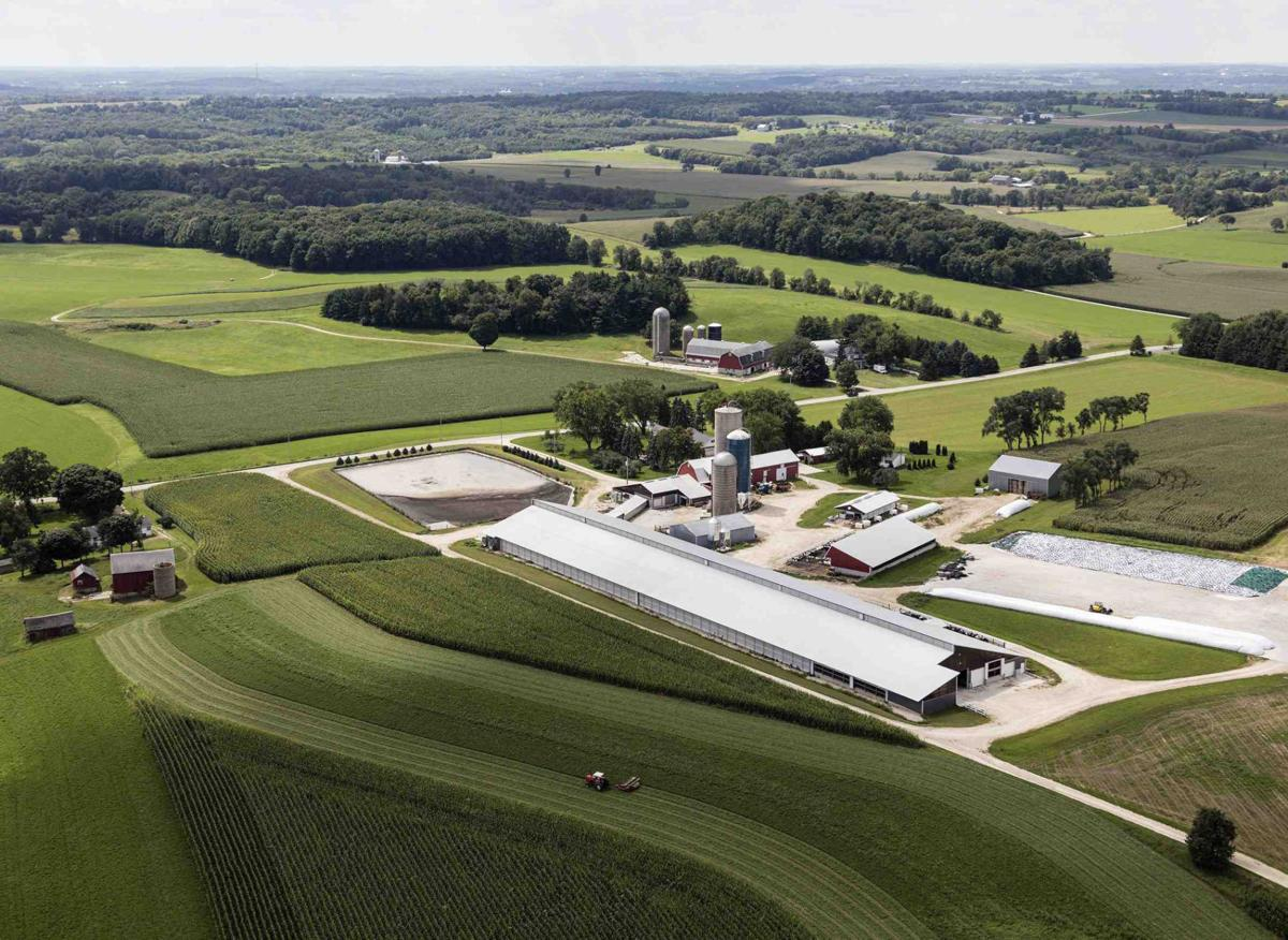 Gault Valley Farms aerial view.