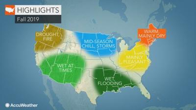 Accuweather fall forecast graphic
