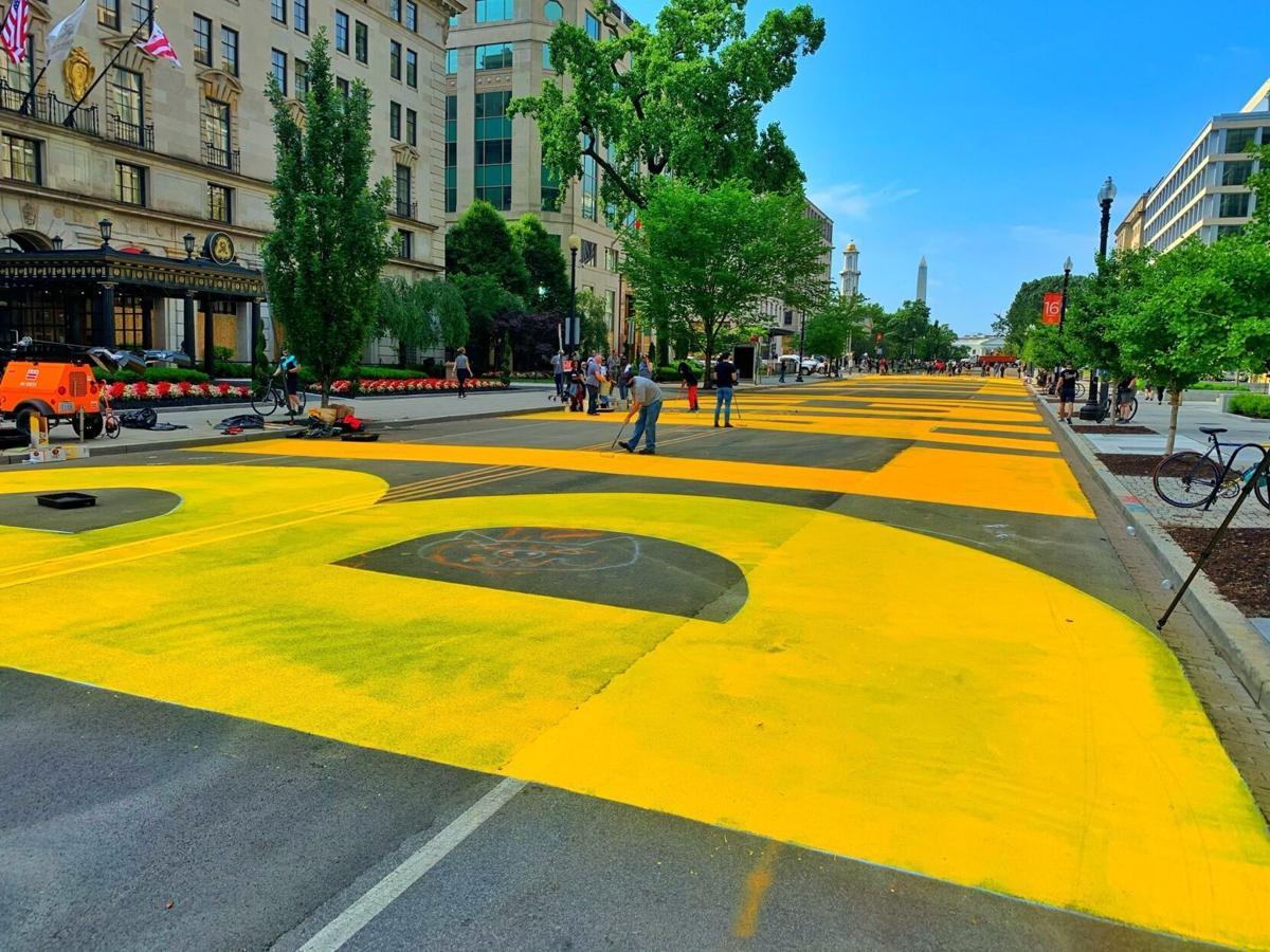 Black Lives Matter street painting