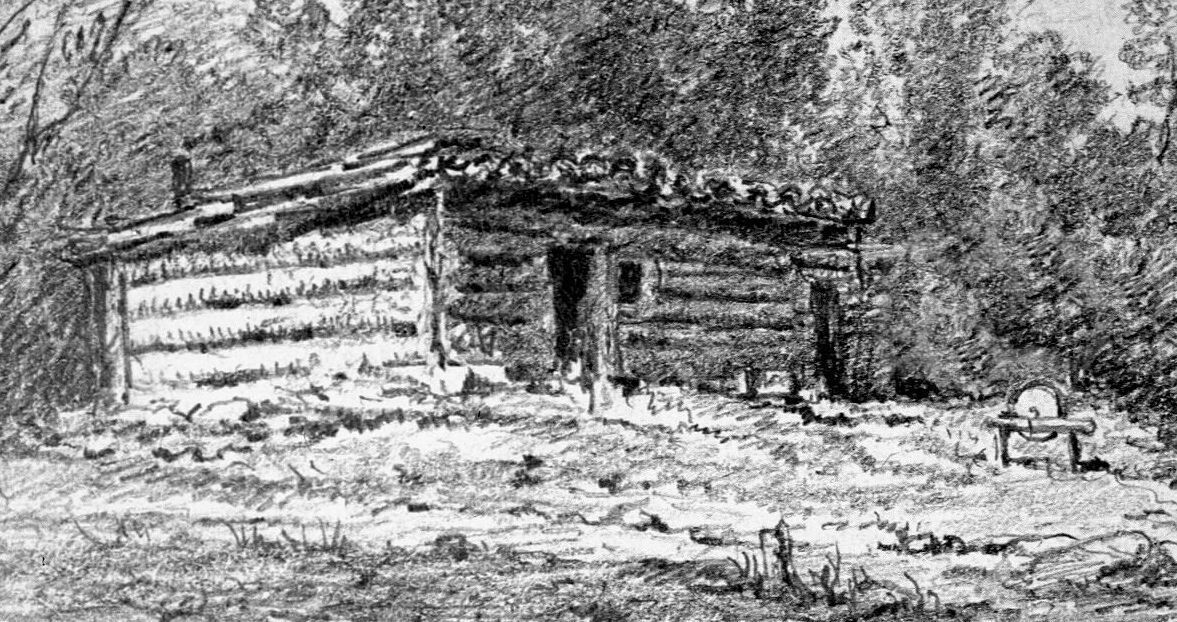 Example of an area shanty in the 1800s.