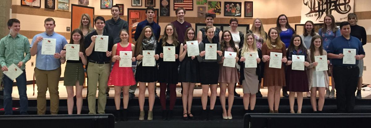 New students inducted into German National Honor Society