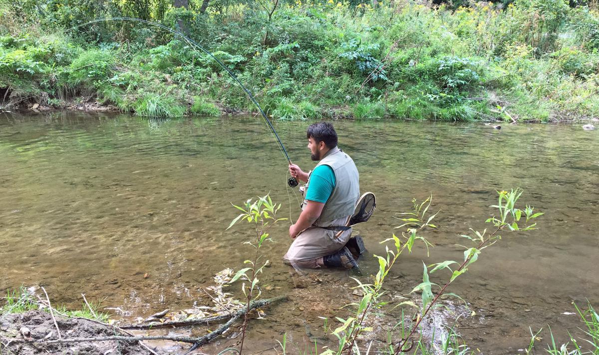 Niko fly fishing
