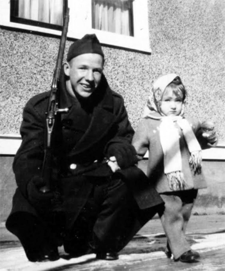 Howard Krueger with Betty as a young girl