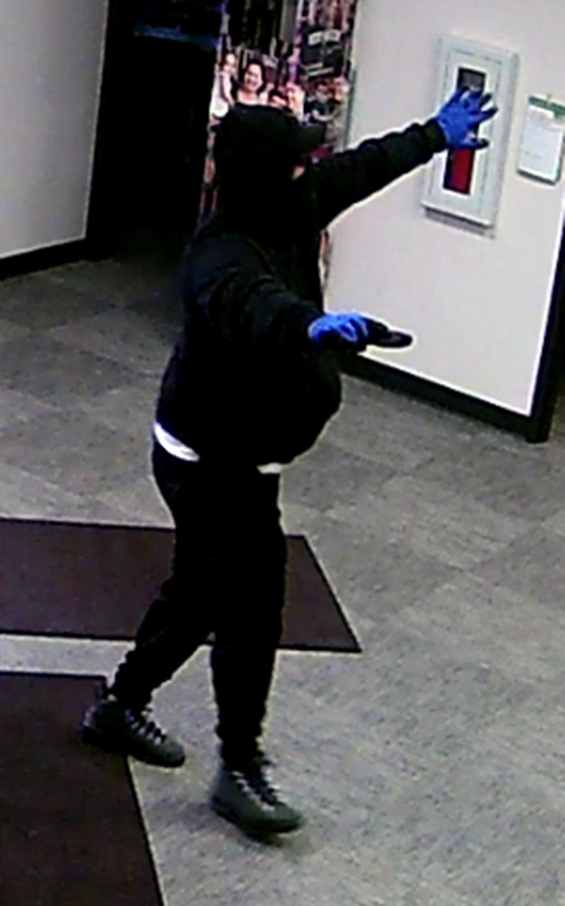 Robbery suspect on camera