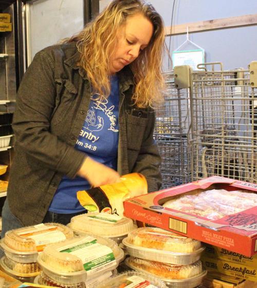 Shannon organizes food (copy)