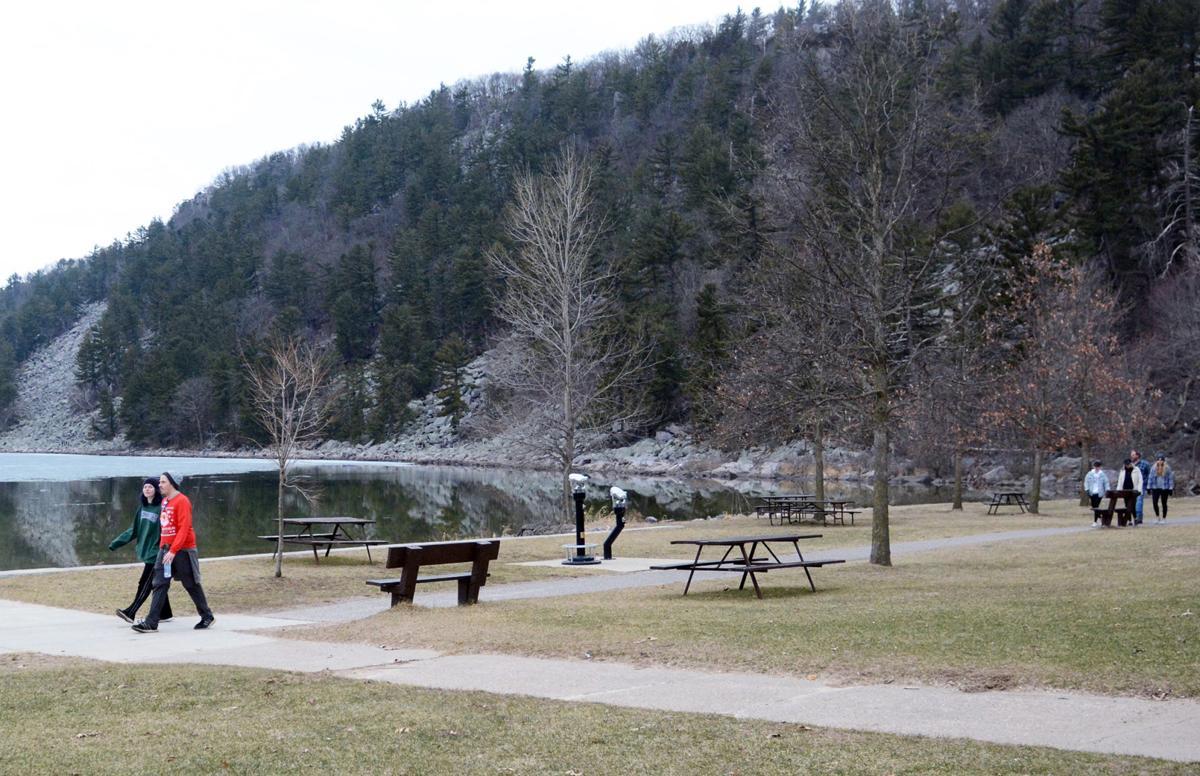 Walking at Devil's Lake State Park