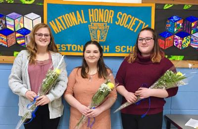 WESTON INDUCTS NATIONAL HONOR SOCIETY MEMBERS