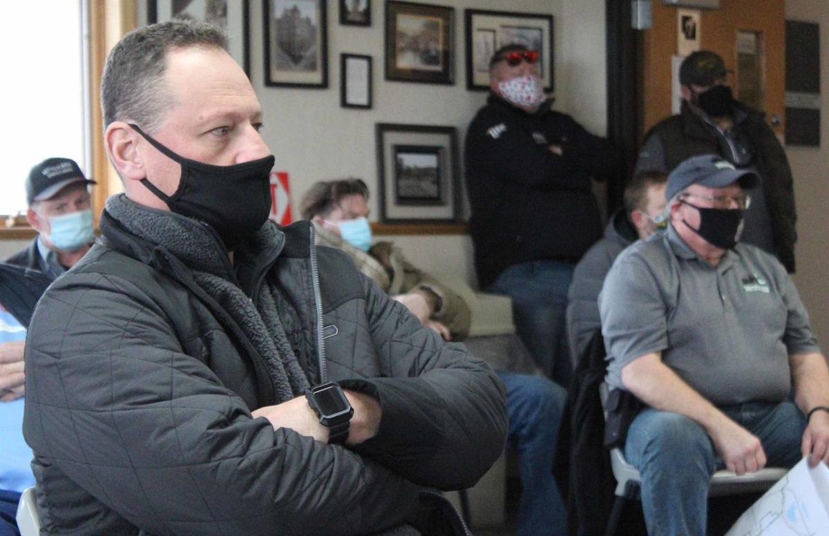 Members of public at Lake Delton village board meeting