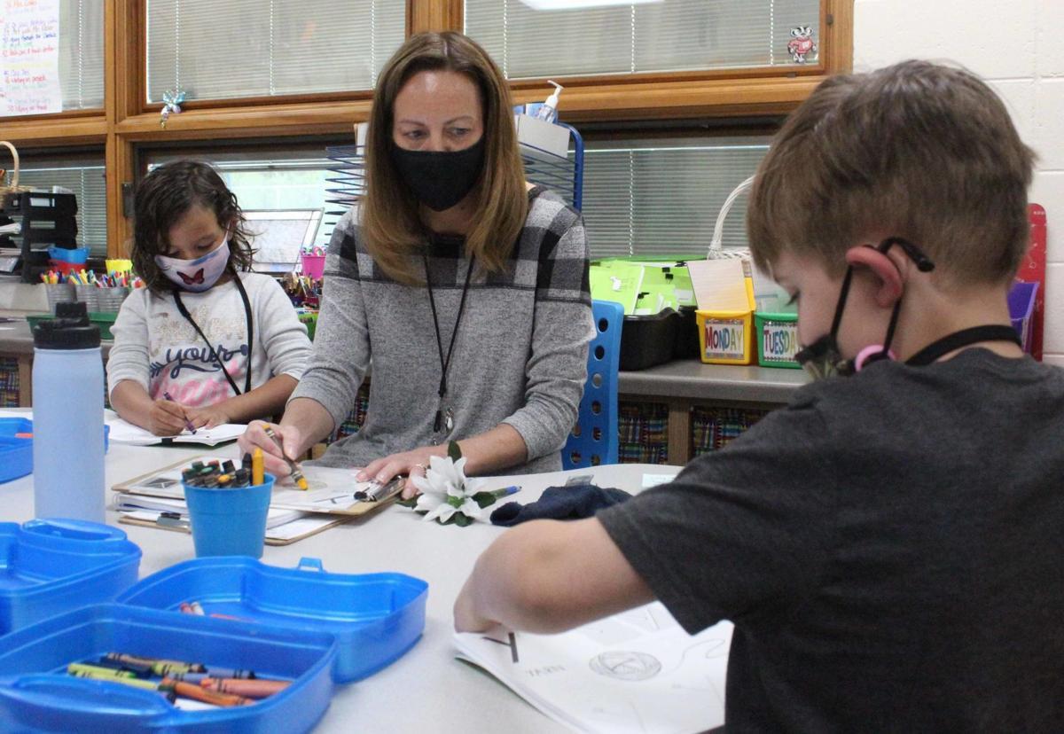 Danae teaches students 2