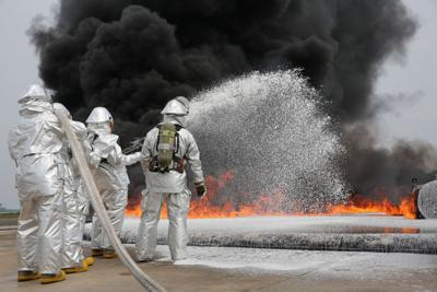 Military firefighting foam