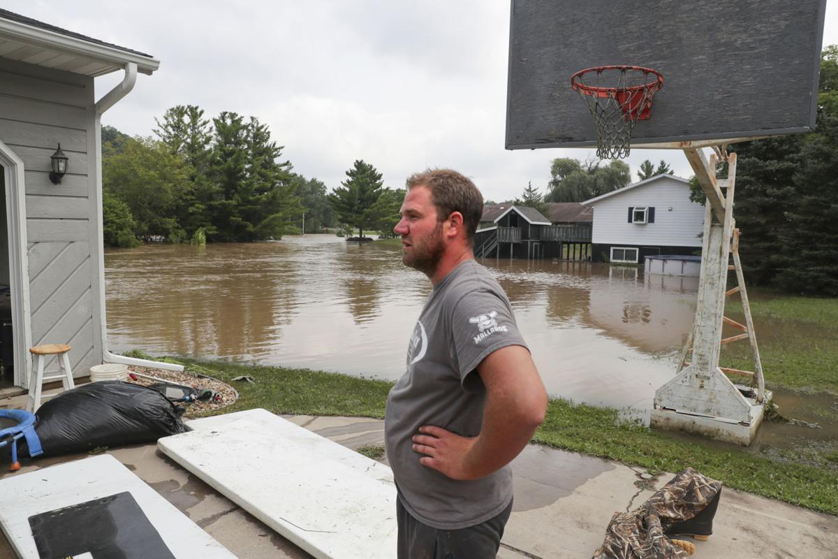 Flood damage on Riverview Drive