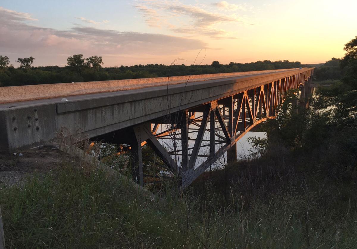 Highway bridges connect Dells to I-90/94 corridor