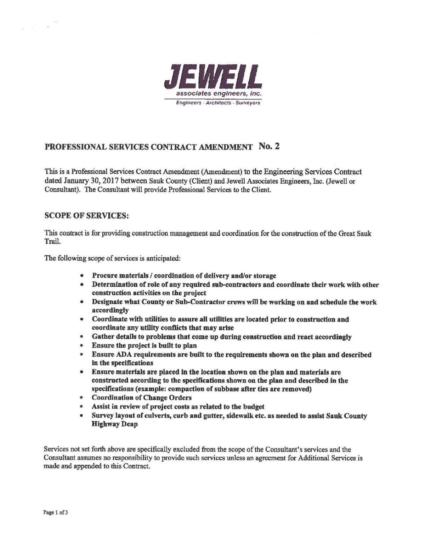Jewell Associates Engineers contract amendment 2