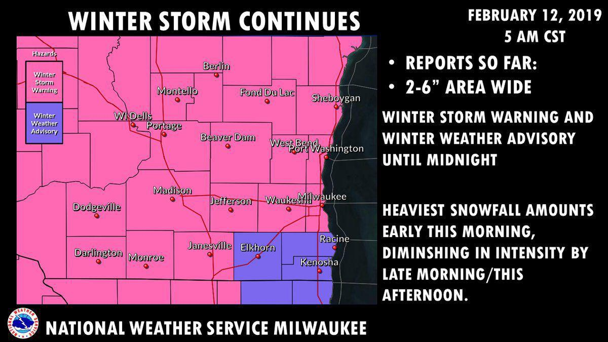 National Weather Service warnings 2-12-19
