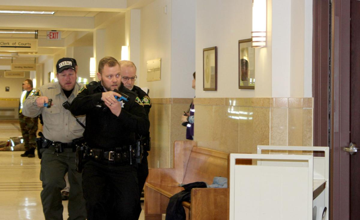 Dodge County Emergency Management conducts courthouse shooter drill