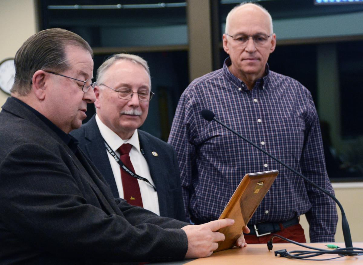 Geick honored upon departure